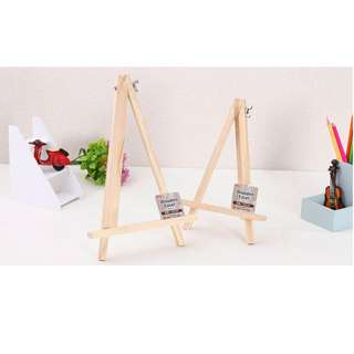 Daiso Japan Easel Style Wooden Tripod Frame Stand