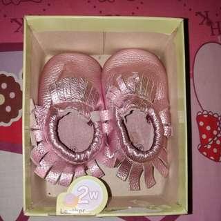 teeny toes sepatu glossy pink
