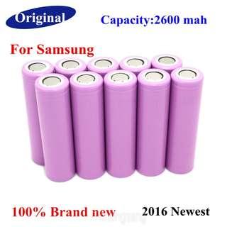 Original Samsung 2600mAh 3.7V 18650 Rechargeable Lithium bat