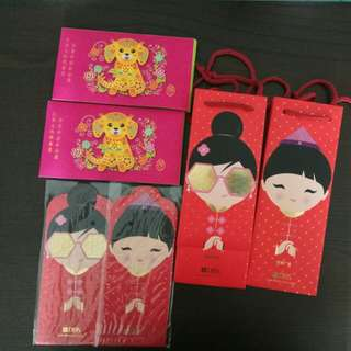 Red Packets, angpow, CNY carriers.