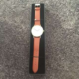 Brown Strap Analog Watch