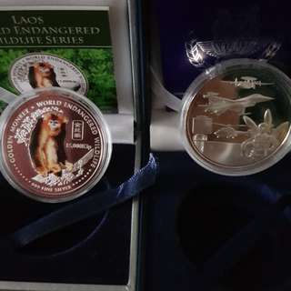 2005 & 1993 Singapore Silver Proof Coin