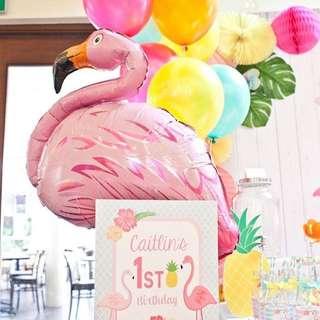 Flamingo Foil Baloon.For flamingo Party