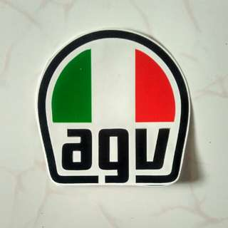Sticker logo helm AGV