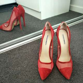 Windsorsmith red high heels