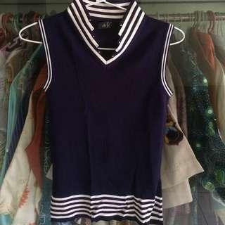 sleeveless blue