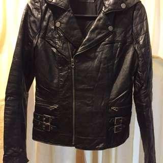 Brett Gold lamb leather Jacket S size