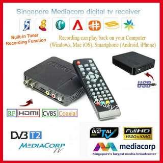 Digital TV box DVB-T2 with Recording Function + Antenna