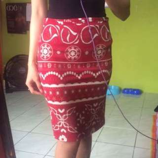 💕 red skirt