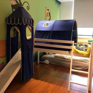 Kid's Walk Original TT-60-19 BLUE CASTLE LOFT BED Hom