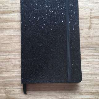 Glitter notebook from Typo