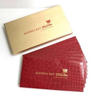Marina Bay Sands MBS Exclusive Ang Pow Red Packet in Gold Box 8pcs