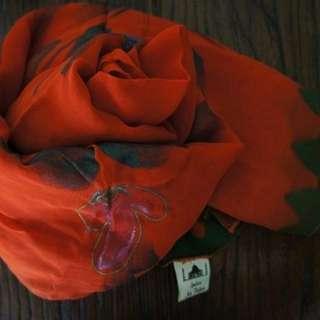 國外帶回 民族風 絲巾 可當披肩造型 或 家居裝飾桌巾