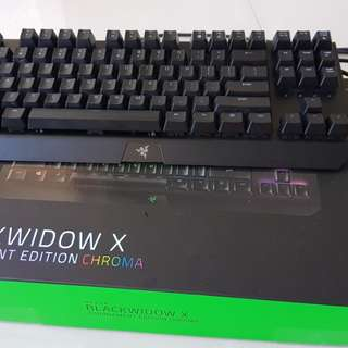 Razer Blackwidow X Tournament Edition Chroma gaming backlight keyboard