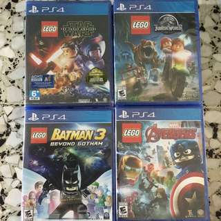 PS4 Lego games 1 to 2 players