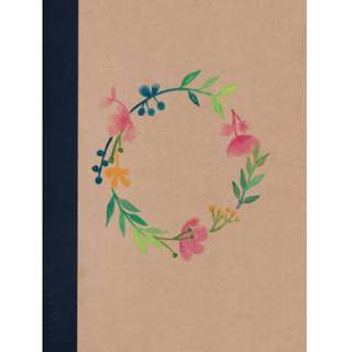 [CUSTOMISE] Handpainted floral wreath notebooks