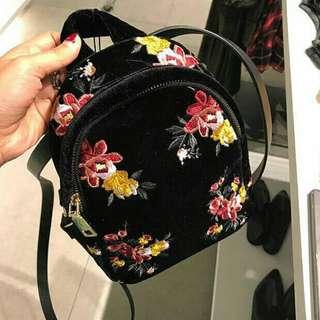 Original  ZARA backpack bordir bag.