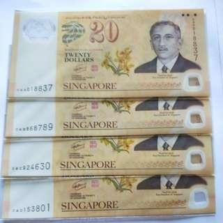 $20 commemorative note