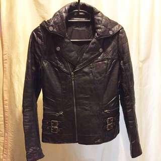 NEW Brett Gold lamb leather Jacket S size Black color