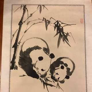 Panda Chinese Painting