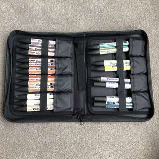 Letraset Promarker Pen set and folio case