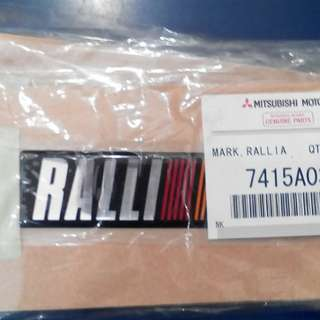 Emblem epoxy ralliart