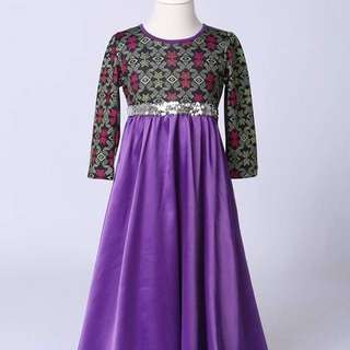 Songket sarawak  dress jubah kid