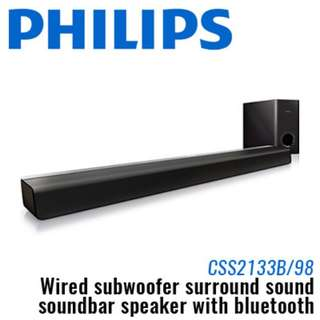 100% Authentic  Philips Soundbar speaker CSS2133B/98