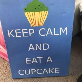 Keep calm canvas