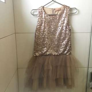 SM gold sequinned dress