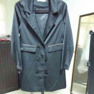 OB,黑色西裝外套
