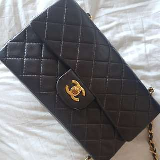 Reduced Authentic vintage Brown Chanel Classic flap