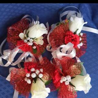 Wedding Car handle corsages