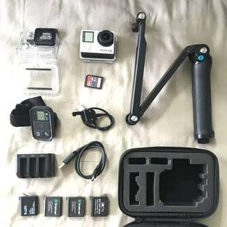 GoPro Hero 4 Black + Accessories! All In!!!