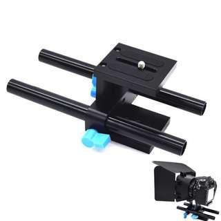 15mm Rod Rail Rig Basic for DSLR & Mirrorless