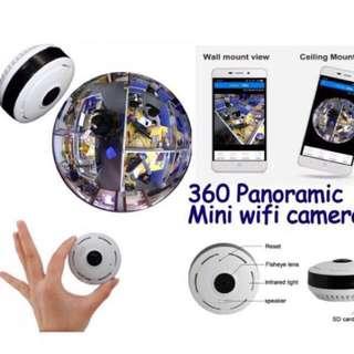 Wifi IP Camera - 360 / 180 Fisheye, Panoramic, Wide Angle CCTV