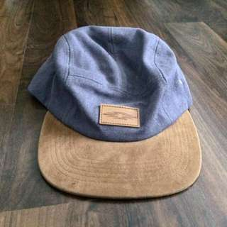 ASOS Cap Hat, Blue/Tan