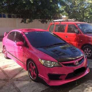 Lady owned Pink honda civic