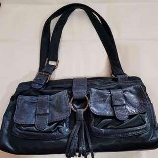 Nuovedive (Italy) Nylon and Leather handbag
