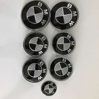 Bmw F10 carbon look badge complete set
