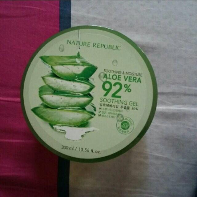 100% original aloe vera soothing gel