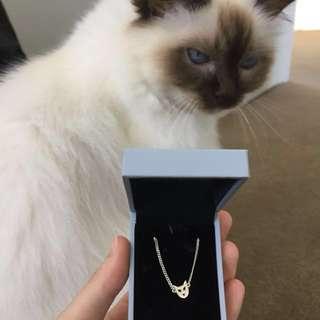 Karen Walker mini Cat necklace