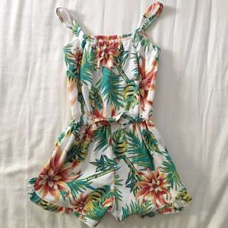 Tropical Theme Little Girl Jumpsuits