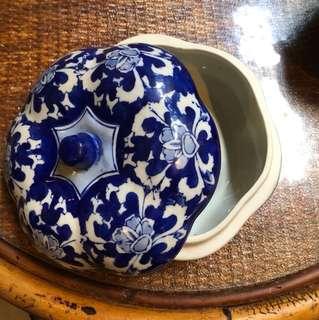 Vintage blue and white porcelain