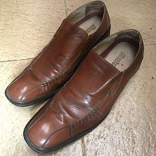 Brown Bata Work Shoes
