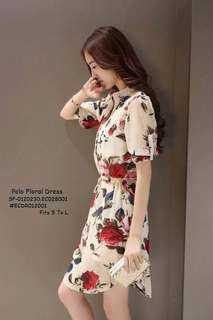 Polo floral dress fits S-L