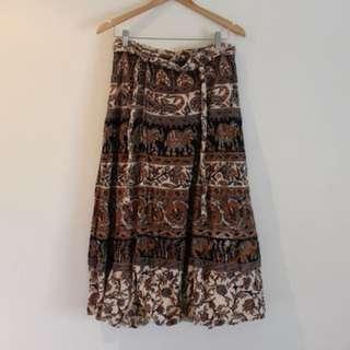 Indian wrap skirt