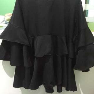 Baju blouse hitam