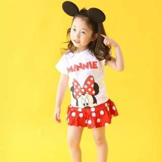 Minnie Mouse Tops N skirt