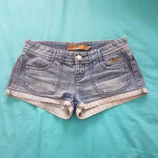 Billabong Cheeky Denim Shorts, Size 8